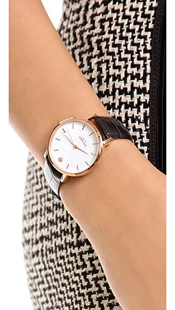 Kate Spade New York Metro Embossed Croc Watch