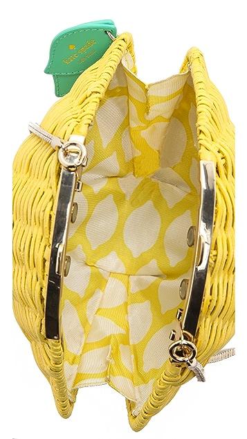Kate Spade New York Wicker Lemon Shoulder Bag