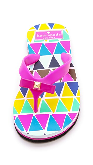 Kate Spade New York Fiji Geometric Print Flip Flops