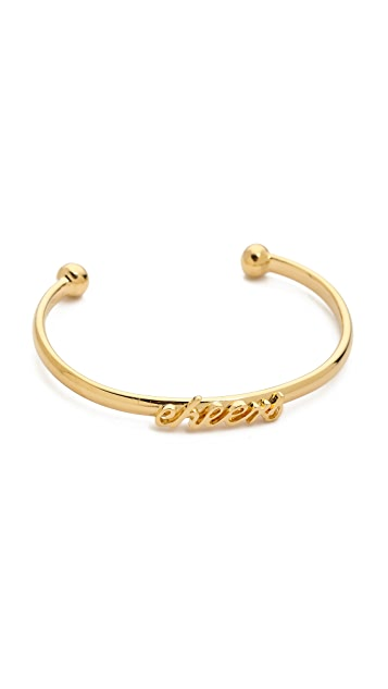 Kate Spade New York Say Yes Cheers Cuff Bracelet