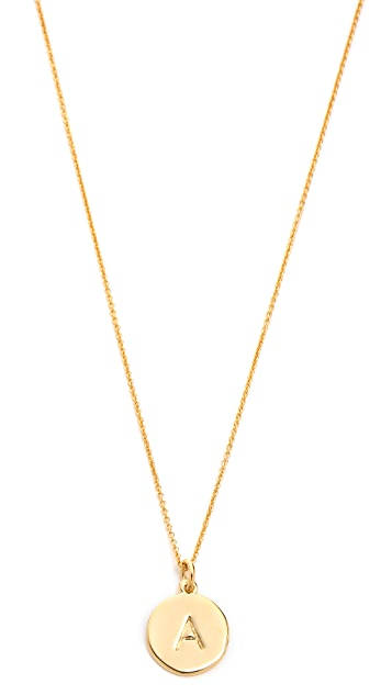 Kate spade new york letter pendant necklace shopbop kate spade new york letter pendant necklace mozeypictures Images