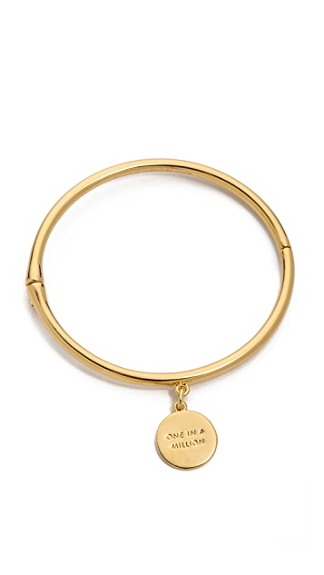 Kate Spade New York Charm Letter Bangle Bracelet
