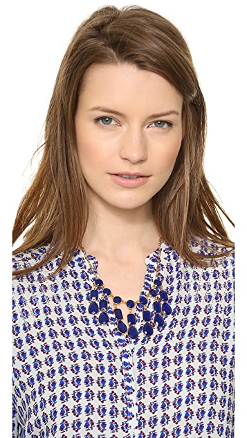 Kate Spade New York Riviera Garden Mini Bib Necklace