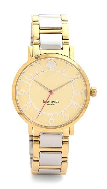 Kate Spade New York Gramercy Two Tone Bracelet Watch