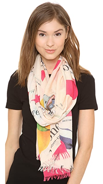 Kate Spade New York Italian Flashcard Scarf