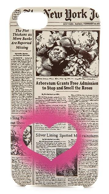 Kate Spade New York NYJ Newspaper Print iPhone 5 / 5S Case