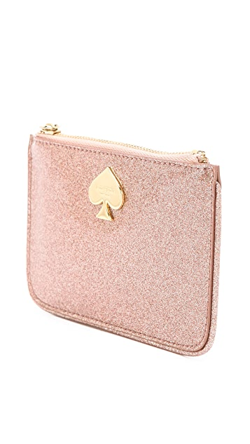 Kate Spade New York Glitter Bug Small Flat Pouch