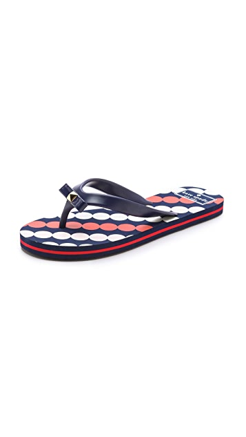 Kate Spade New York Fiji Dot Graphic Flip Flops