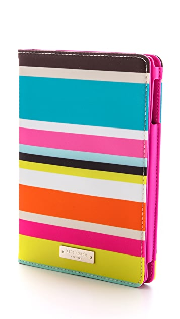 Kate Spade New York Beach Stripe Mini iPad Folio