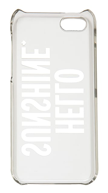kate spade iphone 5c case kate spade new york hello iphone 5c shopbop 2774