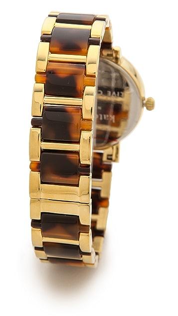 Kate Spade New York Two Tone Tortoise Gramercy Bracelet Watch