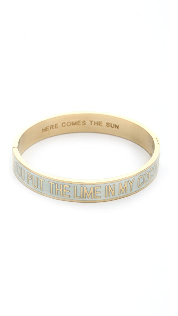 Kate Spade New York You Put the Lime in the Coconut Hinged Bangle