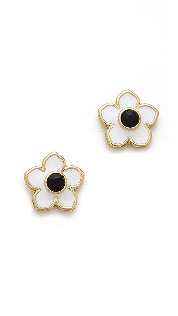 Kate Spade New York Tropical Floral Stud Earrings