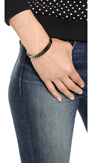 Kate Spade New York On the Dot Hinged Idiom Bangle Bracelet