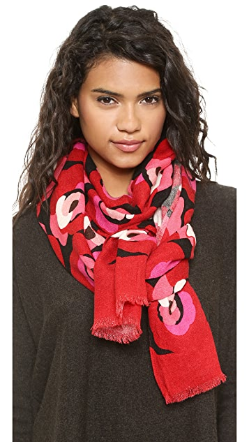 Kate Spade New York Deco Rose Scarf