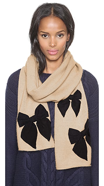 Kate Spade New York Sugar Plum Stitched Bow Scarf