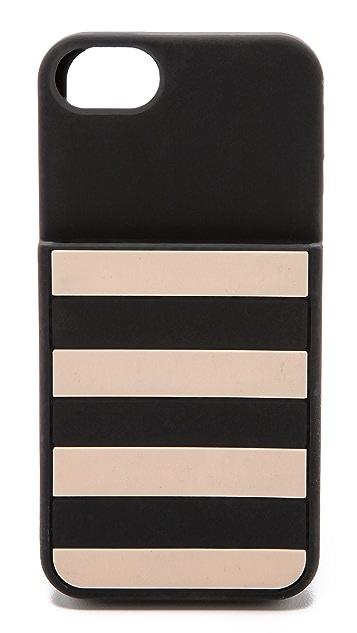 Kate Spade New York Kinetic Stripe Pocket iPhone 5 / 5S Case