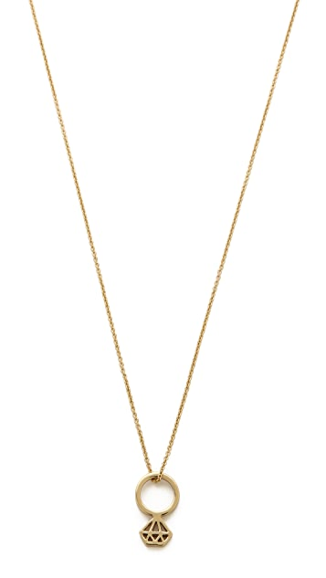 Kate Spade New York Kiss a Prince Engagement Ring Neckalce