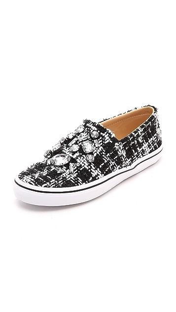 Kate Spade New York Slater Tweed Slip On Sneakers