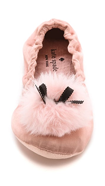 Kate Spade New York Camden Pom Pom Slippers