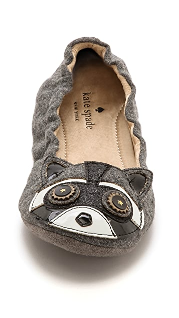 Kate Spade New York Cal Racoon Slippers