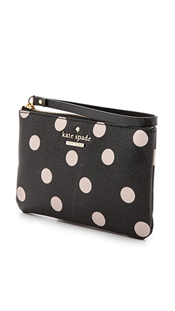 Kate spade new york bee polka dot wristlet shopbop kate spade new york bee polka dot wristlet junglespirit