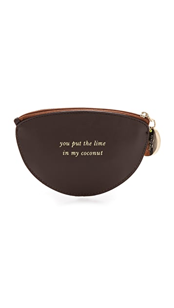 Kate Spade New York Haircalf Coconut Coin Purse
