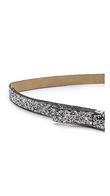 Kate Spade New York Las Vegas Glitter Bow Belt