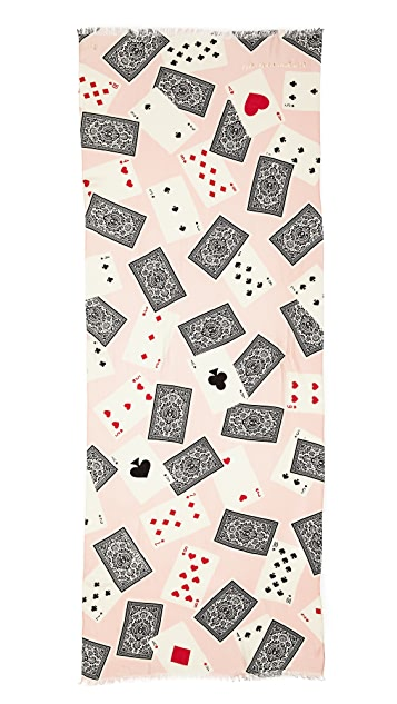 Kate Spade New York Las Vegas Playing Cards Scarf
