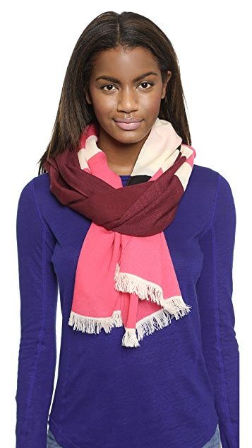 Kate Spade New York Holiday Textured Stripe Scarf