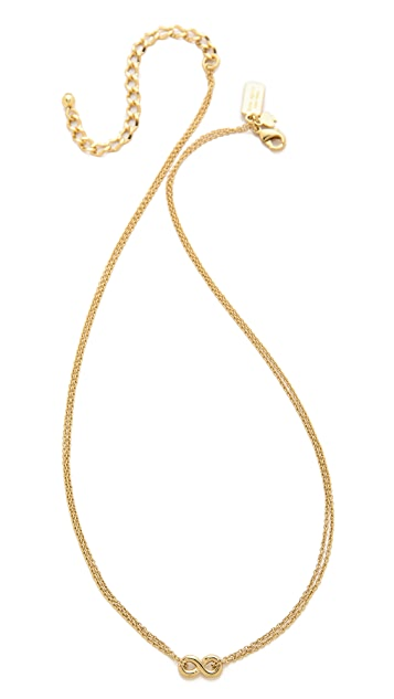 Kate Spade New York Kiss A Prince Infinity Necklace