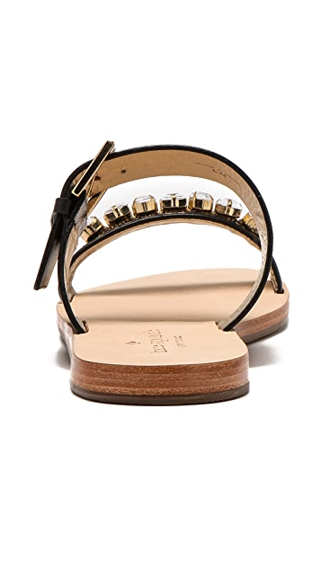 Kate Spade New York Astra Embellished Two Band Sandals