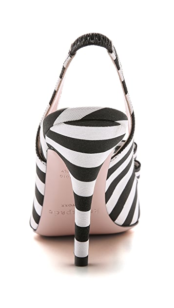 Kate Spade New York Celeste Stripe Slingback Heels