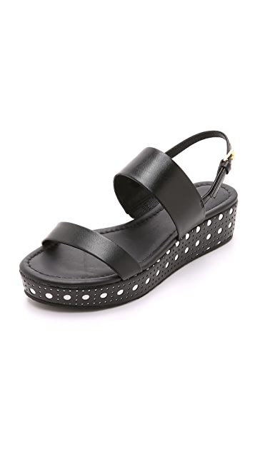 Kate Spade New York Tasely Two Band Flatform Sandals