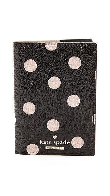 d4bd040cd563 Kate Spade New York Cedar Street Dot Passport Holder | SHOPBOP