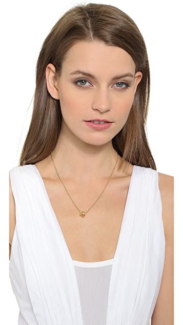 Kate Spade New York Dainty Sparklers Knot Pendant Necklace