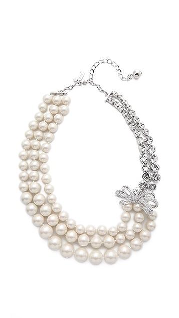 3a85b3136e6ba Pearly Glow Triple Strand Necklace