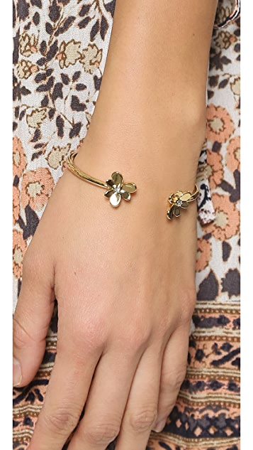 Kate Spade New York Pansy Blossoms Cuff Bracelet