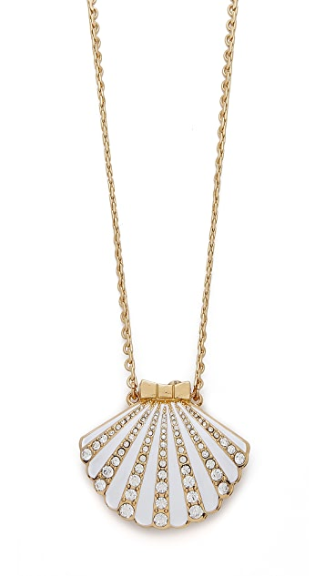 Kate Spade New York Shore Thing Clam Pendant Necklace
