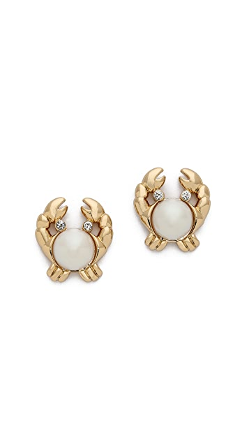 Kate Spade New York Shore Thing Crab Stud Earrings
