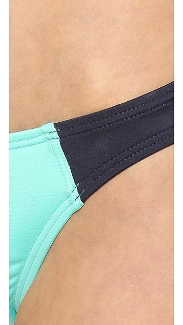 Kate Spade New York Parrot Cay Colorblock Bikini Bottoms