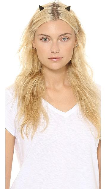 Kate Spade New York Enamel Cat Ear Headband