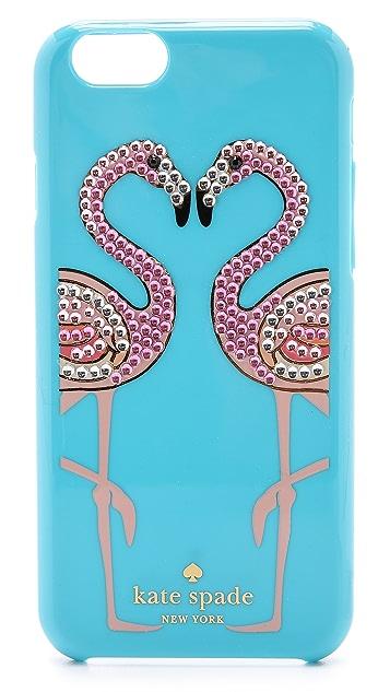 Kate Spade New York Embellished Flamingos iPhone 6 Case