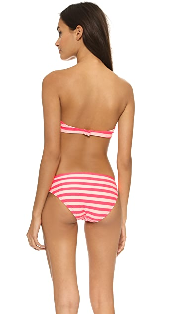 Kate Spade New York Georgica Beach Stripes Bow Bikini Top