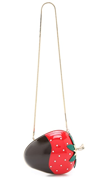 Kate Spade New York Dipped Strawberry Clutch