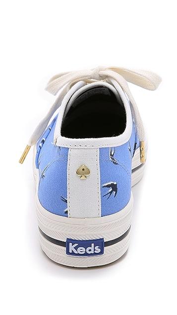 Kate Spade New York Keds for Kate Spade Triple Kick Swallow Sneakers