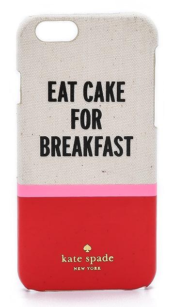 Kate Spade New York Eat Cake for Breakfest iPhone 6 / 6s Case