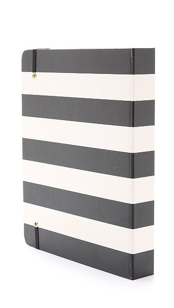 Kate Spade New York Stripes Large 17 Month Spiral Agenda