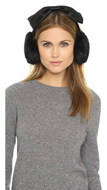 Kate Spade New York Faux Fur Bow Earmuffs