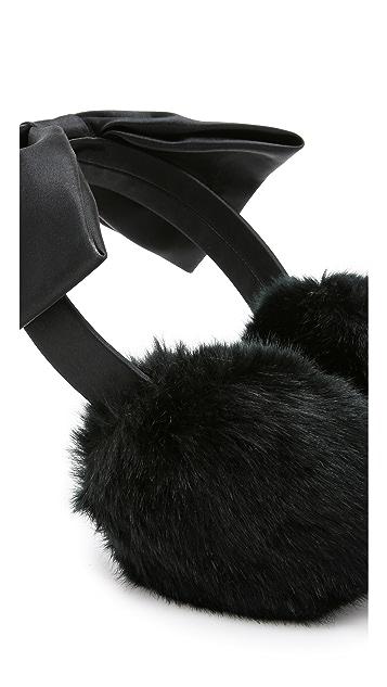 Kate Spade New York Faux Fur Bow Earmuffs